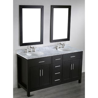 60-inch Bosconi SB-252-4 Contemporary Double Vanity