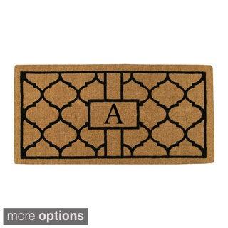 Pantera Extra-thick Monogrammed Doormat (1'6 x 2'6)