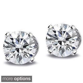 14k White or Yellow Gold 1/3ct TDW Diamond Stud Earrings (G-H, I2-I3)