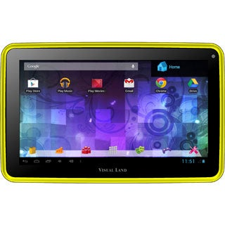 Visual Land Prestige Pro 7D with Pro Folio Bundle (Yellow)