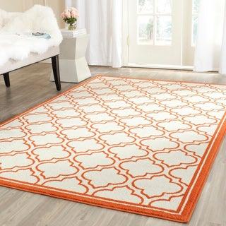 Safavieh Amherst Ivory/ Orange Rug (9' x 12')