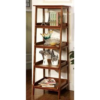 Furniture of America 'Jaeleen' Antique Oak 4-tier Display Stand