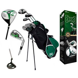 Nextt Golf EX3 16 Piece Stainless Steel Men's Bag and Club Set