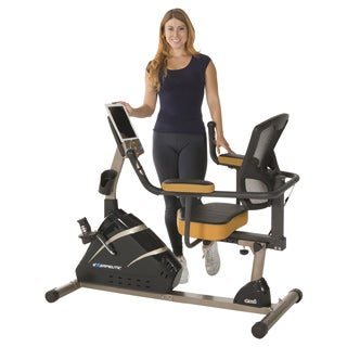 EXERPEUTIC 4000 Mobile App Tracking Magnetic Recumbent Bike with Programmable Computer, Air Soft Seat and Bluetooth Technology