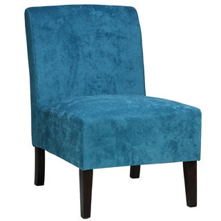 Cortesi Home 'Chicco' Blue Armless Accent Chair