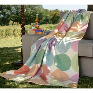 Cotton Pure Candy Colored Dots Jacquard Throw