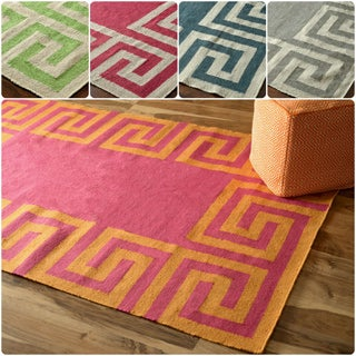 nuLOOM Indoor/ Outdoor Flatwoven Greek Key Rug (8'6 x 11'6)