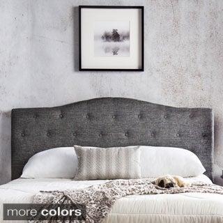 Furniture of America Flax Fabric Upholstered Tufted Headboard