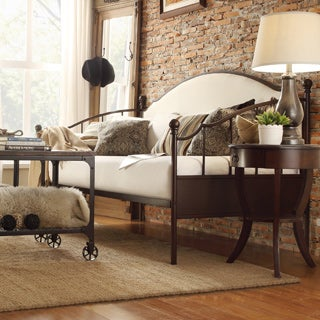 INSPIRE Q Andover Upholstered Curved Top Cherry Brown Metal Daybed
