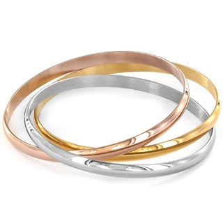 Elya Tri-color Bangle Bracelet (Set of 3)