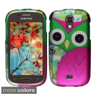 INSTEN Owl Cute Cartoons Rubberized Hard Plastic Phone Case Cover for Samsung Galaxy Light T399