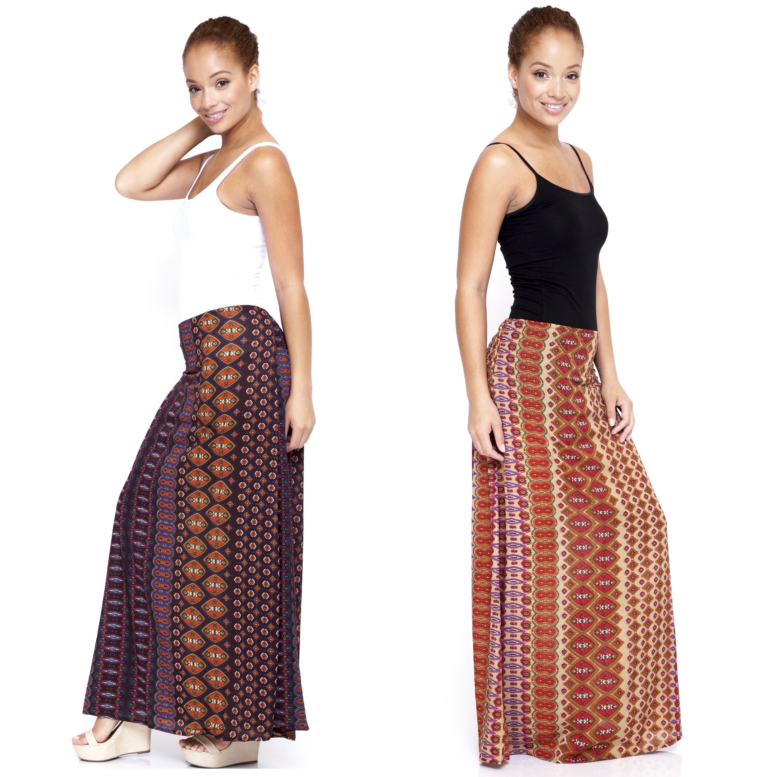 Women's Floral Printed Long Skirt (India)