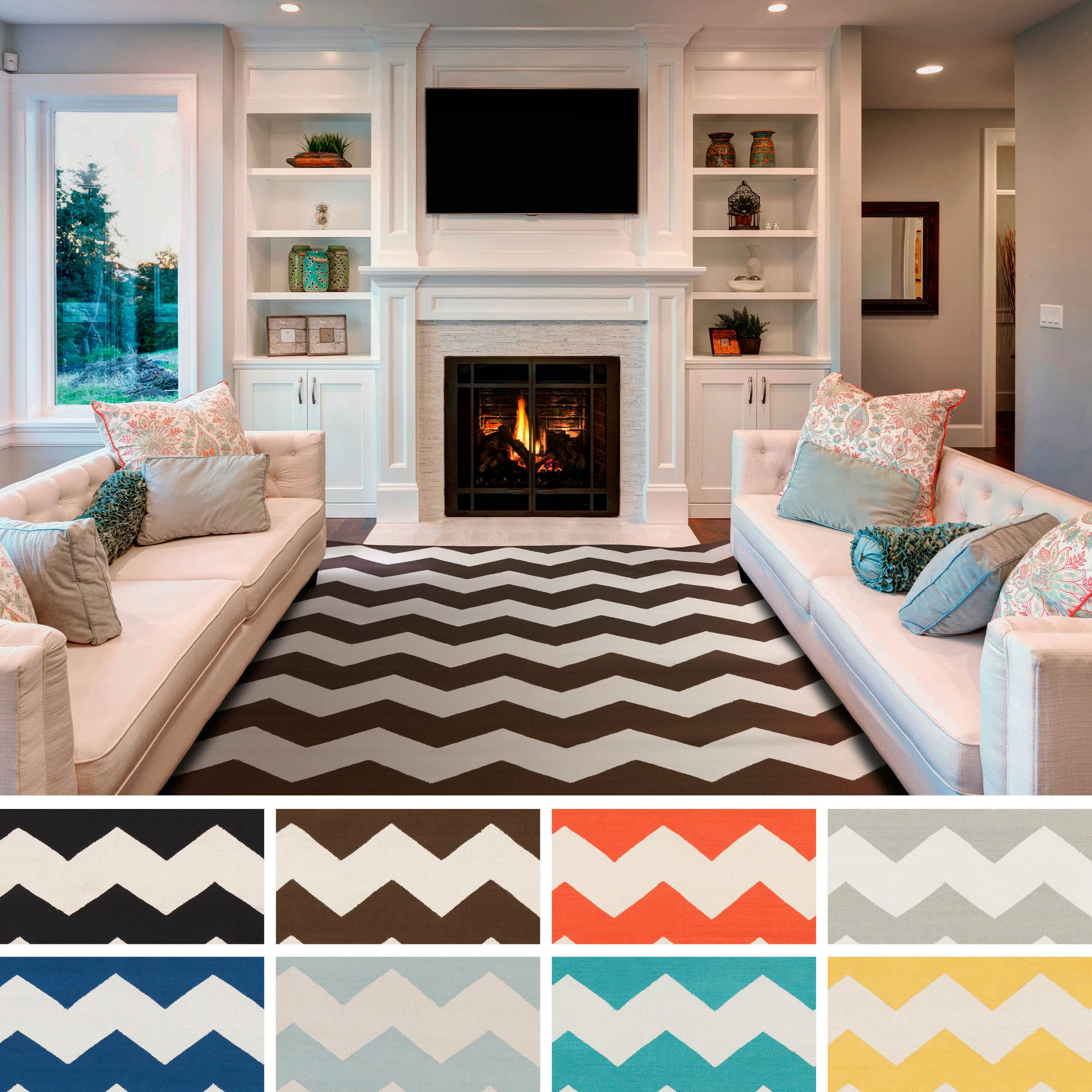 Artistic Weavers Hand-woven Macy Chevron Cotton Area Rug (5' x 8')