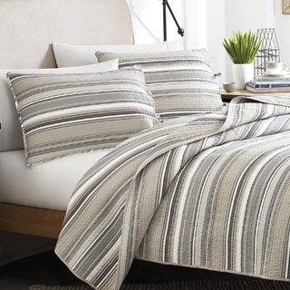 Stone Cottage Fresno Neutral Cotton 3-piece Quilt Set