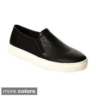 Henry Ferrera Women's Snake-embossed Slip-on Casual Shoes