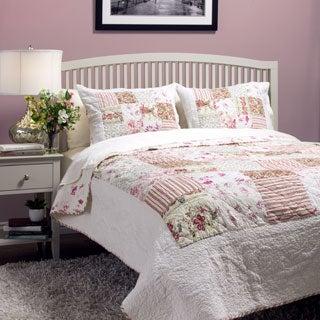 Jules Floral Patchwork 3-Piece Quilt Set