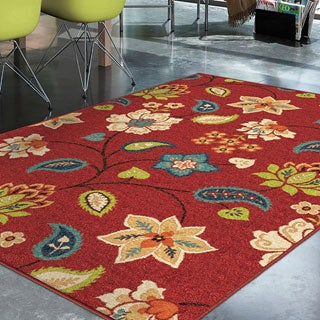 Promise St. Thomas Red Rug (5'2 x 7'6)