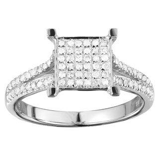 10k White Gold 3/8ct TDW Elegant Diamond Ring (G-H, I1-I2)