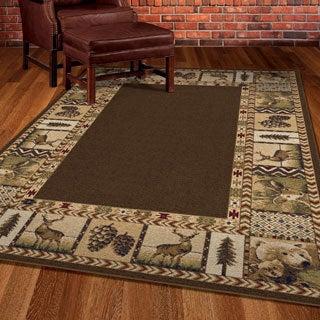 Cherokee Big Spring Brown Rug (7'10 x 10'10)
