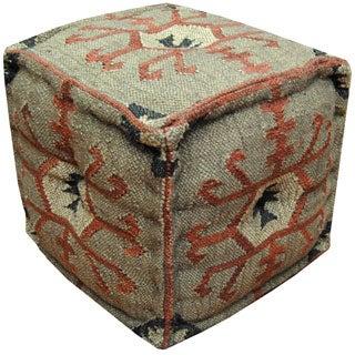 Herat Oriental Indo Handmade Puff Ottoman