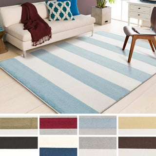 """Meticulously Woven Pluto Casual Striped Area Rug (9'3"""" x 12'6"""")"""