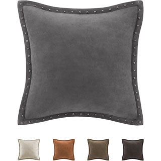 Madison Park Stud Trim Suede Feather Down Filled 20-inch Throw Pillow