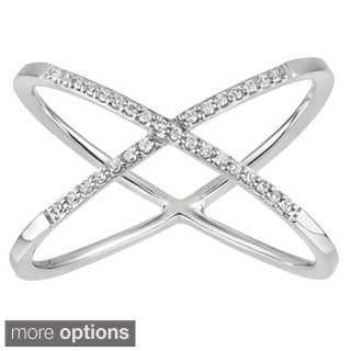 Sterling Silver Diamond 'X' Ring (H-I, I2-I3)