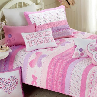Butterfly Fairisle Cotton 3-piece Quilt Set