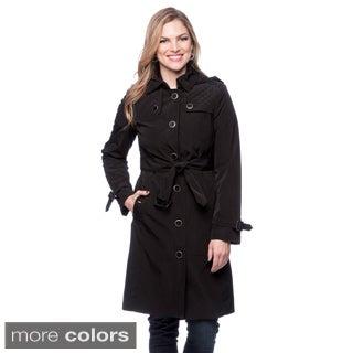 London Fog Women's Hooded Trench Coat