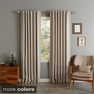 Lights Out Solid Insulated Thermal Blackout Curtain Panel Pair