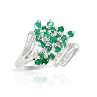 Sterling Silver Green Emerald Ring