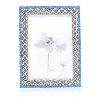 Silvertone and Crystal Metal Picture Frame