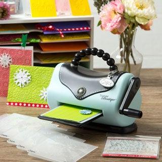 Sizzix Texture Boutique Embossing Machine + 10 bonus Folders & Rub On's.