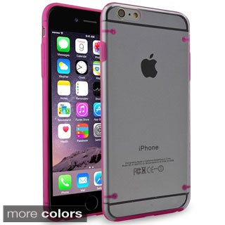 INSTEN Clear Snap-on Phone Case Protector with Color TPU Bumper For iPhone 6