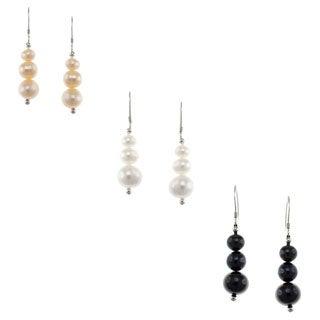 Pearlz Ocean Freshwater Pearl Journey Earrings
