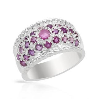 3.1ct TW Rubies in .925 Sterling Silver Ring