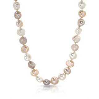 32-inch Necklace with 10mm Multicolor Cultured Freshwater Pearls