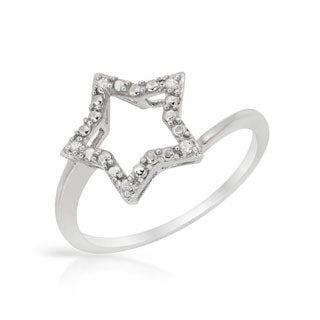Ring with Diamonds in .925 Sterling Silver