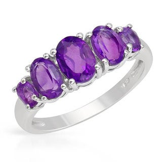 Sterling Silver 1.99ct Amethyst Ring