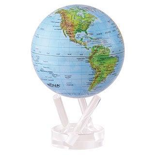 Blue/ Green Earth 4.5-inch Solar Powered MOVA World Globe