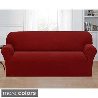 Basketweave Stretch Sofa Slipcover