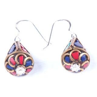 Elegant Teardrop Earrings (Nepal)
