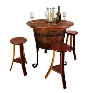Old World Table with Cabinet Set
