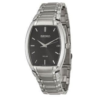 Seiko Men's SNE333 Stainless Steel Solar Watch