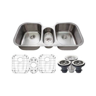 MR Direct 4521 Kitchen Ensemble Stainless Steel Triple Bowl Sink