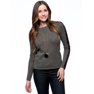 Premise Women's Cashmere Lace Detail Pullover