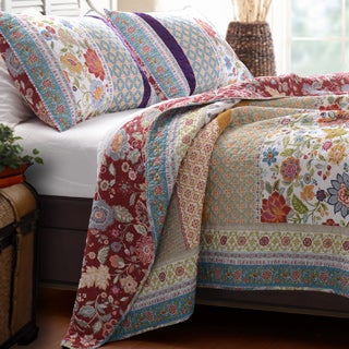 Greenland Home Fashions Geneva Patchwork 3-piece Quilt Set