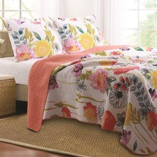 Watercolor Dream 3-piece Cotton Quilt Set