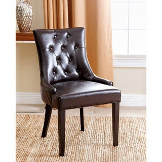 ABBYSON LIVING Napa Dark Brown Leather Dining Chair