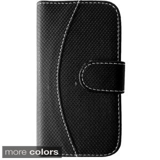 Insten Two Tone Folio Flip Leather Wallet Flap Pouch Phone Case Cover For Apple iPhone 6 Plus
